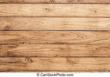 grande, marrom, madeira, prancha, parede, textura, fundo