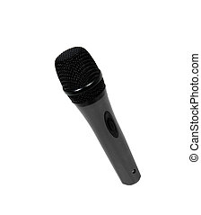 grande, microfono, nero, sfondo bianco