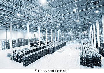 grande, moderno, vuoto, magazzino