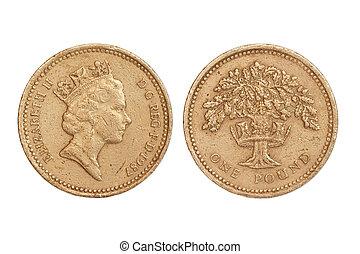 grande, moneda, gran bretaña