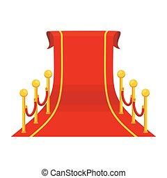 grande, moquette rossa