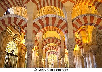 grande, moschea cordoba, interno, cattedrale, precedente