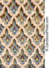 Grande Mosque Hassan II, architectural pattern detail, in...