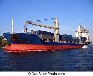 grande, nave contenitore