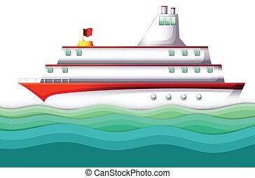 grande, navio, oceânicos