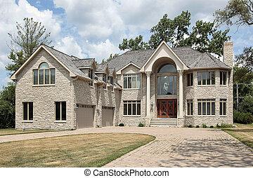 grande, novo, construção, lar
