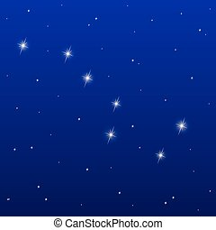 grande, oso, constelación