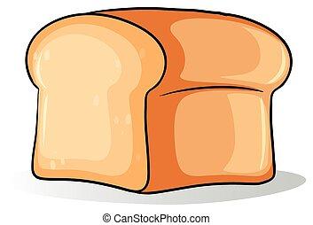 grande, pão, pão