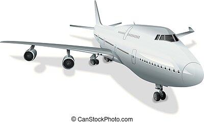 grande, passageiro avião