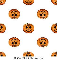 grande, patrón, ilustración, halloween, coloreado, tema