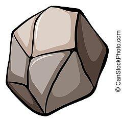 grande, pedra, um