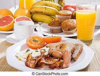 grande, pequeno almoço