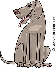 grande, perro, danés, ilustración, caricatura