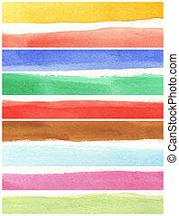 grande, pinturas, -, textura, acuarela, papel, plano de...
