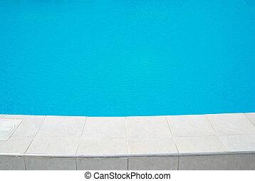 grande, piscina, natação