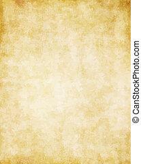 grande, plano de fondo, de, viejo, pergamino, papel, textura