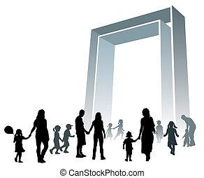 grande, portão