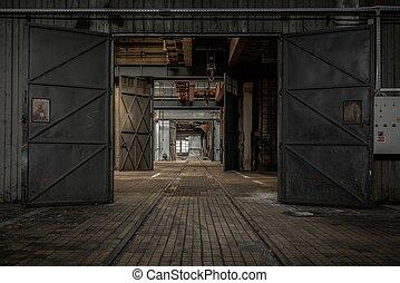 grande, porta industriale