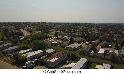 Grande Prairie housing from above, Alberta, Canada - Aerial...
