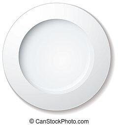 grande, prato, jantar, borda