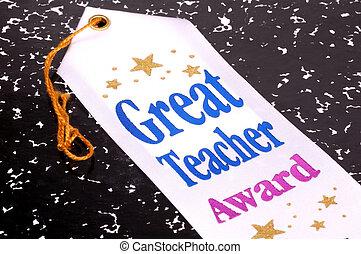 grande, profesor, premio