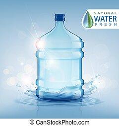 grande, pulito, fresco, bottiglia, water.
