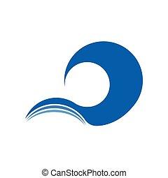 grande, resumen, símbolo, onda