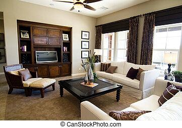 grande, sala de estar