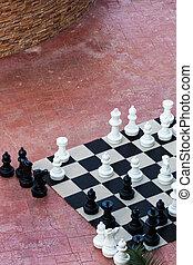 grande, scacchi, fuori