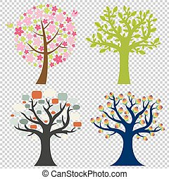 grande, set, albero