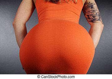 grande, sexy, butt
