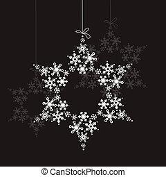 grande, snowflake branco