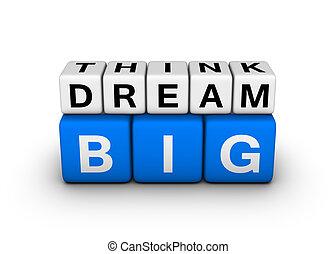 grande, sogno, pensare