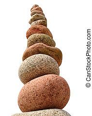 grande, stones., spiaggia, pila, colorito