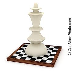 grande, tablero de ajedrez, rey