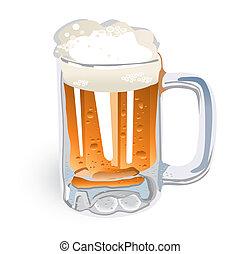 grande tasse bière, (vector)