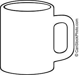 grande tasse café, (white, cup)