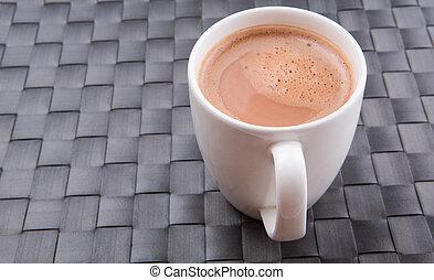 grande tasse, chocolat chaud