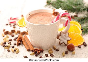 grande tasse, chocolat lait
