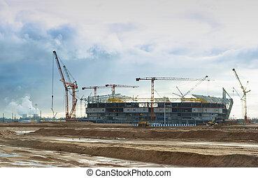 grande tasse, sports, kaliningrad, construction, installations, stade, mondiale