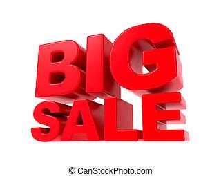 grande, -, text., vendita, rosso, 3d