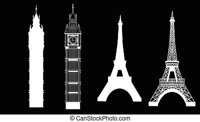 grande, torre, eiffel, ben