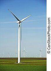 grande, turbinas, vento