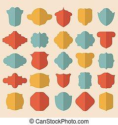 grande, vector, conjunto, de, diferente, color, labels.