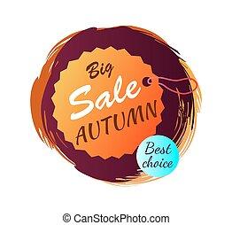 grande, venta, otoño, mejor, opción, vector, ilustración