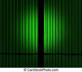 grande, verde, annuncio