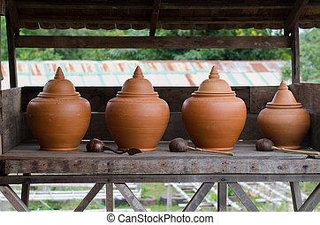 grande, vida, recipiente, maneira água, tailandês,...