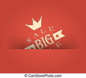 grande, vindima, venda, desenho, retro, denominado