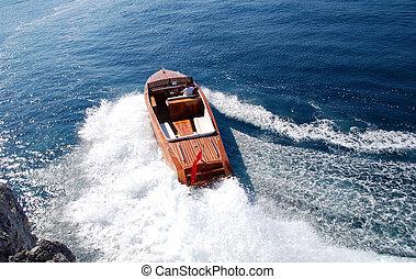 grande vitesse, classique, canot automobile
