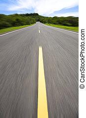 grande vitesse, vide, route